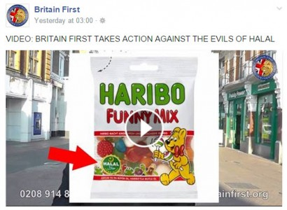 Britain First – Fighting Over a Packet of Sweets