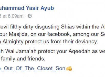 Imam Muhammad Yasir Ayub Also Goes Into Anti-Shia Rants