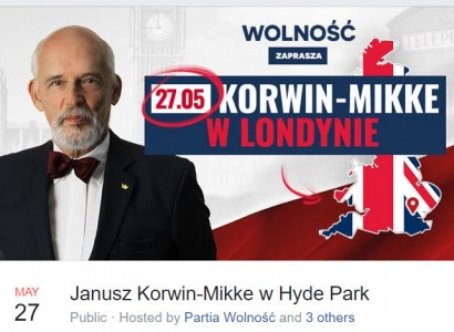 Janusz Korwin-Mikke – Speaking in London. The Worrying Trend of Entryism into Polish Communities