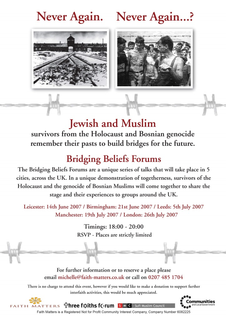 Holocaust and Bosnia Genocide Poster