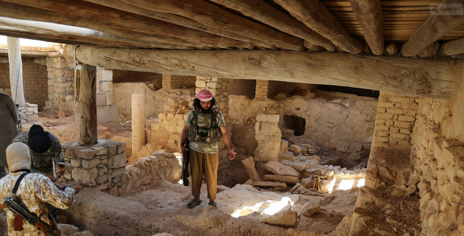 ISIS Unearth and Desecrate the 1500 year old Mar Elian Monastery in Syria