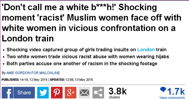 How a MailOnline article distorted a video from 2014 to highlight 'racist' Muslim women