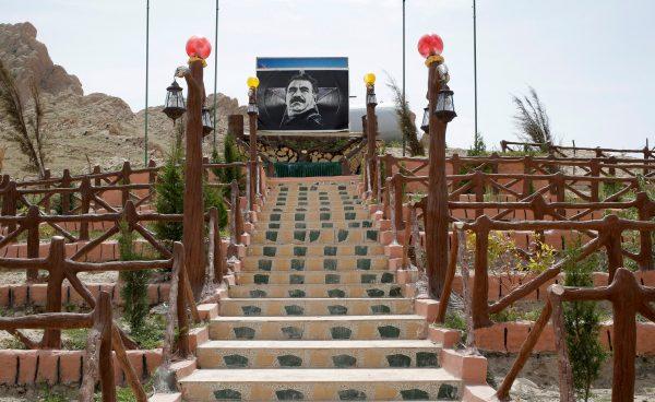A picture of jailed Kurdistan WorkersÕ Party (PKK) leader Abdullah Ocalan is seen in a PKK mausoleum in Sinjar region, northern Iraq, May 1, 2016. REUTERS/Goran Tomasevic
