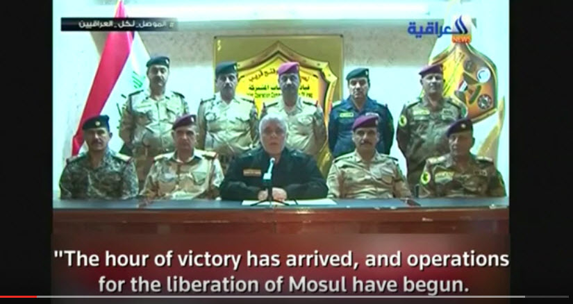 Iraq PM Abadi announces start of Mosul offensive
