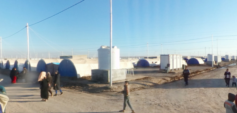 Iraqi refugees face harsh camp conditions