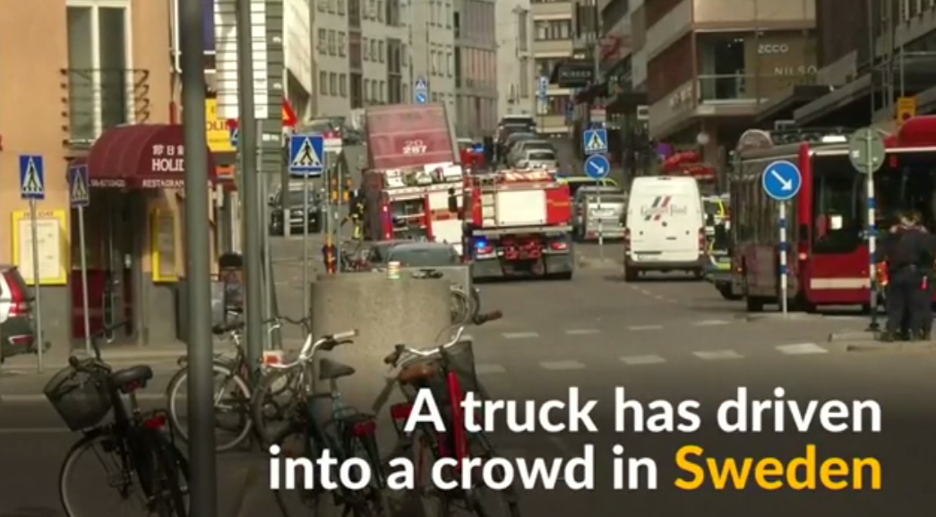 Terrorist Attack in Sweden Kills Pedestrians