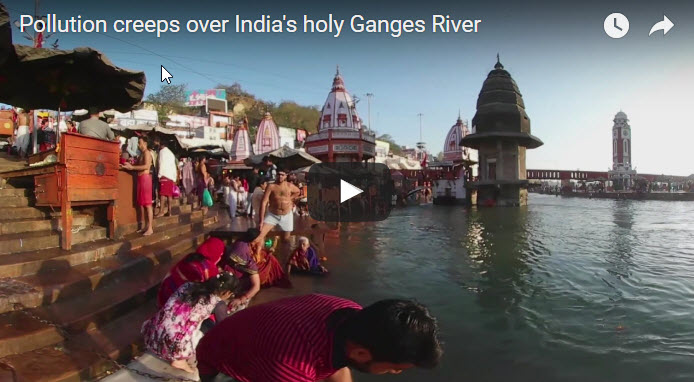 Pollution creeps over India's holy Ganges River