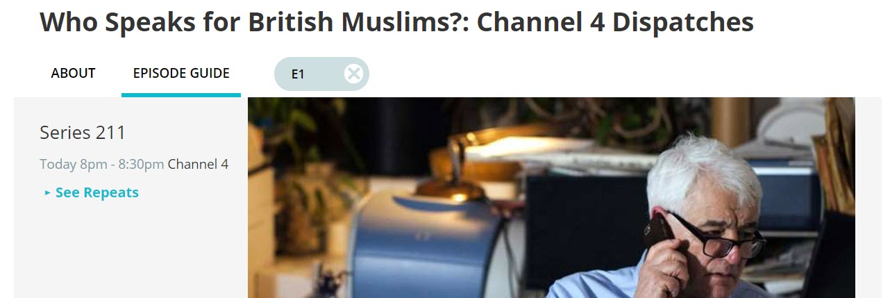 """Statement from Fiyaz Mughal on Dispatches """"Who Speaks for British Muslims?"""""""